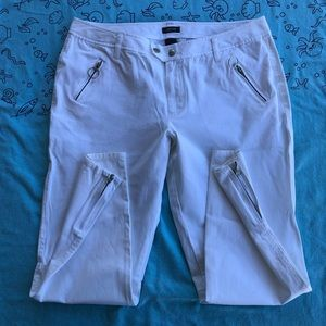 Kenneth Cole Reaction White Ankle Jeans Size 12